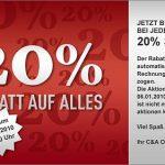 20% Rabatt auf ALLES bei C&A