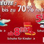 Nur heute: Bis zu 70% Rabatt auf Schuhe von Neckermann