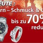 Nur heute: 70% Rabatt auf Schmuck und Uhren bei Neckermann