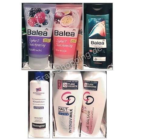 Neu bei dm: Balea Duschpeeling, Balea Men, Neutrogena und CD Bodymilk