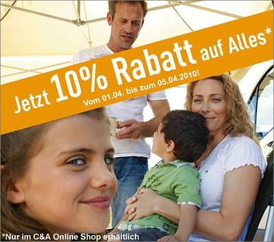 C&A: 10% Rabatt auf alles