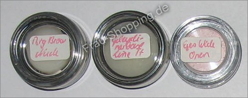 Big Brow Nude, Geleyeliner Base und Eyes wide open von Pony Hütchen