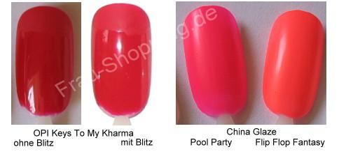 OPI Keys To My Kharma + China Glaze Pool Party Swatch