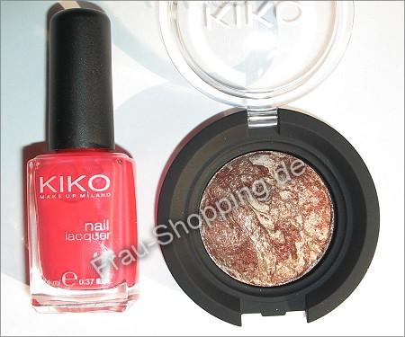 Kleiner Einkauf bei KIKO - Lidschatten Nr. 18 und Nagellack 281