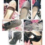 Frau Shopping beim Schuh-Türken
