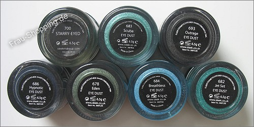 Meine Sleek Eye dust Pigmente