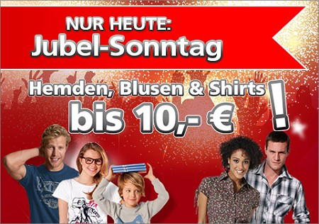 nur heute shirts hemden und blusen bis 10 euro bei neckermann. Black Bedroom Furniture Sets. Home Design Ideas