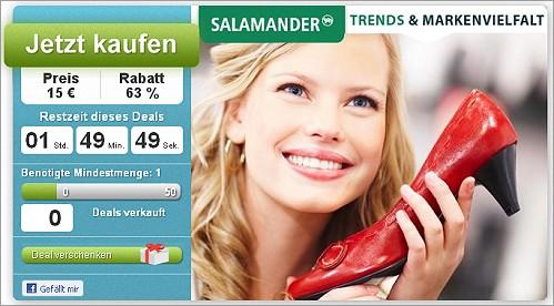 Schuhe kaufen und 15 Euro statt 40 Euro bezahlen!