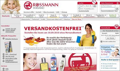 Rossmann Versand: Heute keine Versandkosten