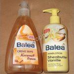 Balea Creme Seife Karamell-Traum / Balea Handlotion Sheabutter Vanille