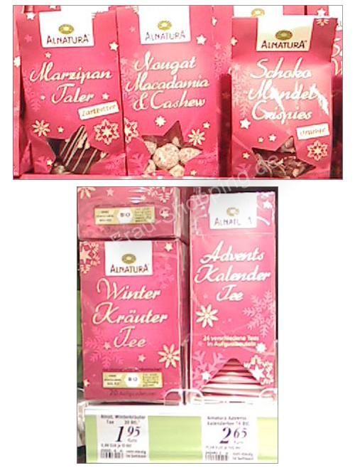 Neu bei dm: Alnatura Weihnachtssüßigkeiten u. Tee