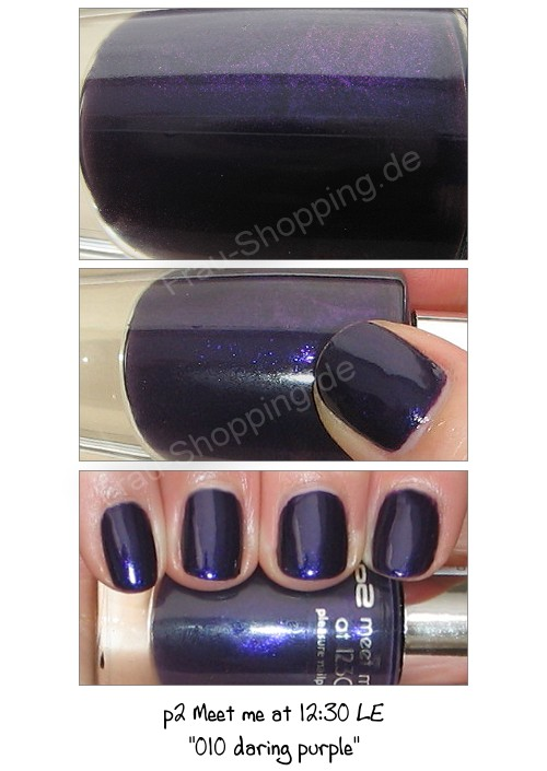p2 010 daring purple Nagellack Swatch