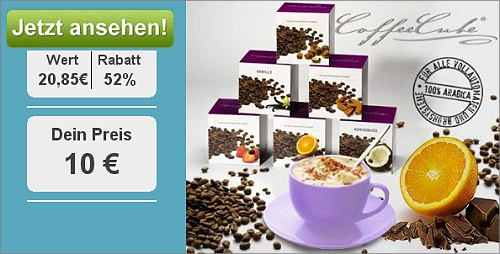 DailyDeal: 52% Rabatt für Coffeecube