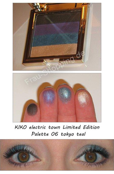 KIKO tokyo teal Palette aus der electric town LE