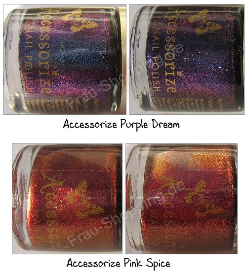 Accessorize Nagellacke Purple Dream und Pink Spice