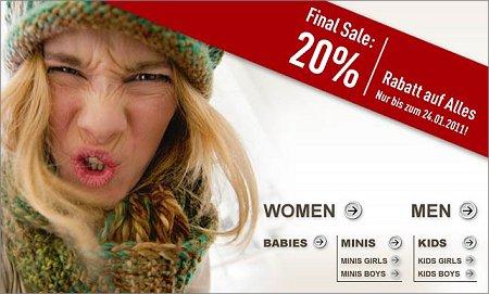 C&A: Sale mit 20% Rabatt auf alles