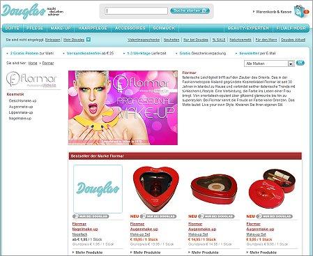 douglas online shop at