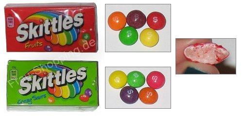 Skittles Fruits und Skittles Crazy Sour