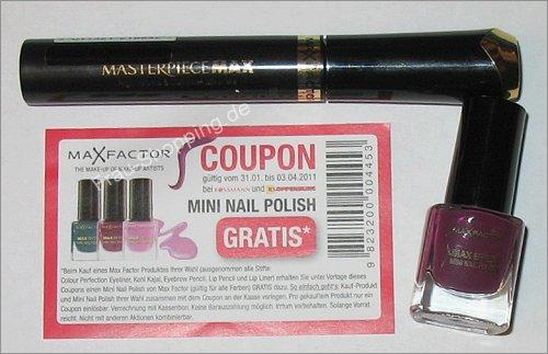 Rossmann: Gratis Nagellack bei einem Einkauf von Max Factor