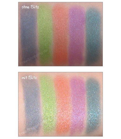 Swatch der selbstgemischten Pigmente von N.