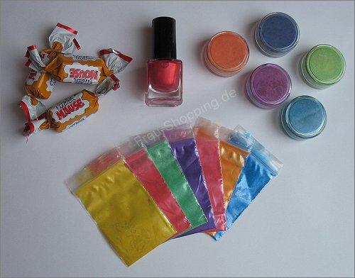 Post für mich: Selbstgemischte Pigmente und Nagellack von N.