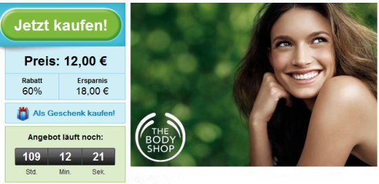 Groupon: The Body Shop Gutschein mit 60% Rabatt