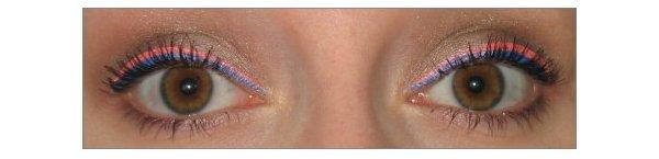 AMU mit Neon Eyeliner