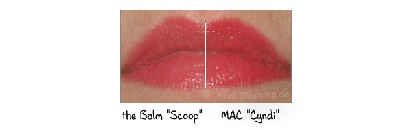 Vergleich: the Balm Scoop vs. MAC Cyndi