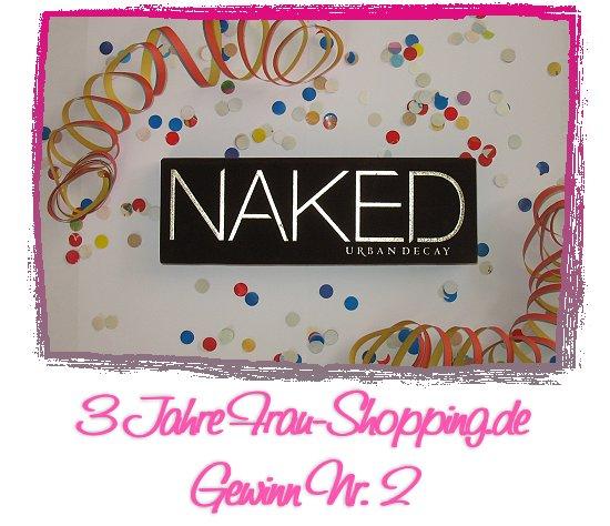 3 Jahre Frau Shopping Gewinnspiel - Gewinn Nr. 2 Urban Decay Naked Palette