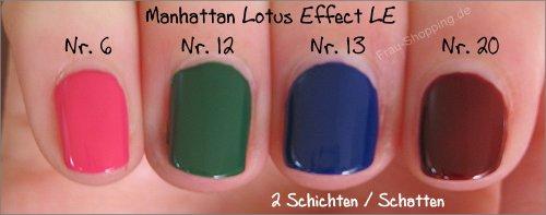 Manhattan Lotus Effect Nagellack LE Swatches - 2 Schichten im Schatten
