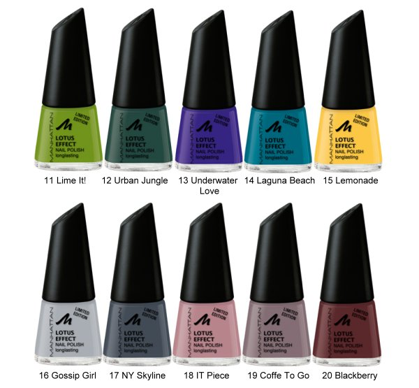 Preview: Manhattan Lotus Effect Nagellack Limited Edition