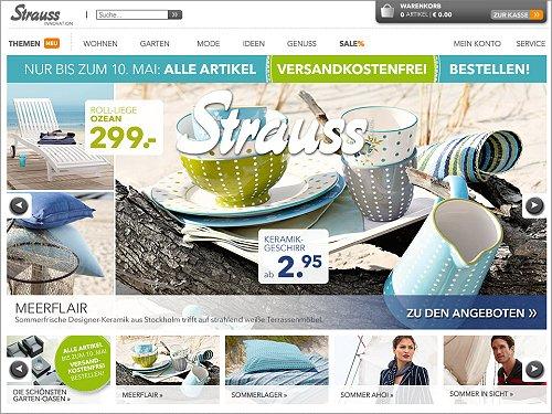Strauss Innovation: Keine Versandkosten bis 10. Mai