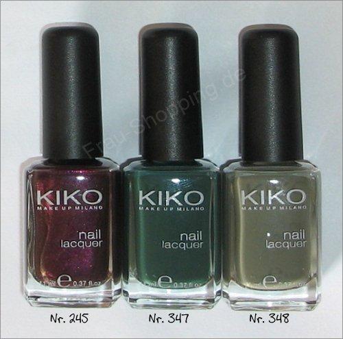 Kiko Nagellack Nr. 245, 347, 348