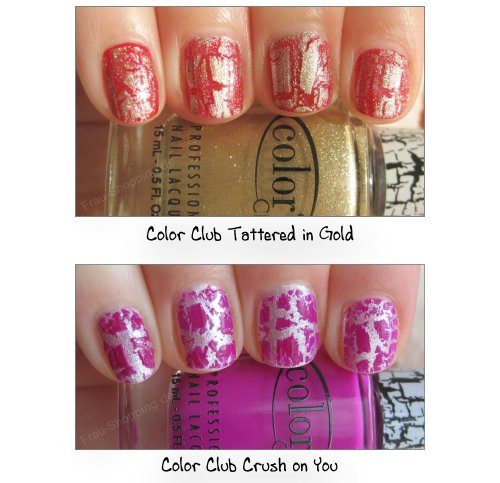 Swatch Color Club Tattered in Gold und Swatch Color Club Crush on You