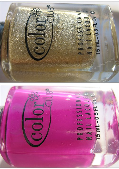 Color Club Fractured Collection Tattered in Gold und Crush on You