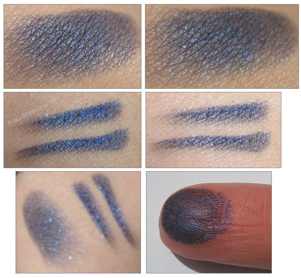 MAC Semi-Precious Mineralize Eyeshadow Blue Sheen Swatch