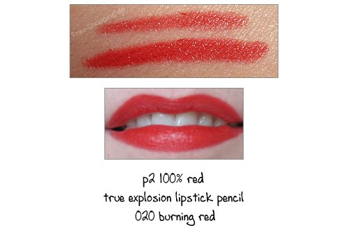 p2 100% red True explosion lipstick pencil 020 burning red