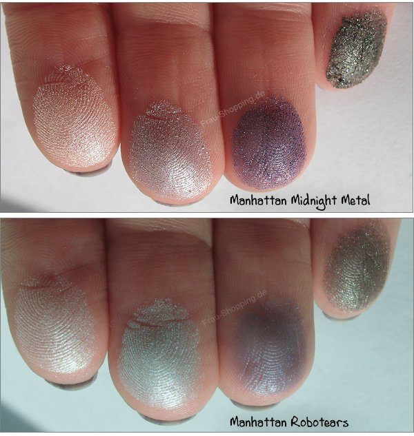 Manhattan Liquid Metals Swatches von Midnight Metal und Robotears