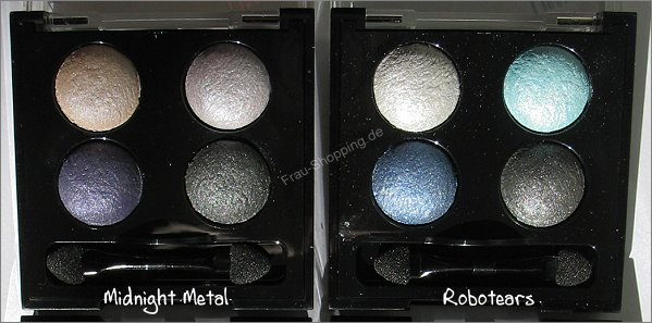 Manhattan Liquid Metals Lidschatten Palette Midnight Metal und Robotears