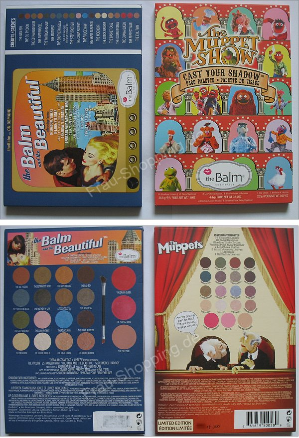 The Balm Muppets Palette vs. the Balm and the Beautiful