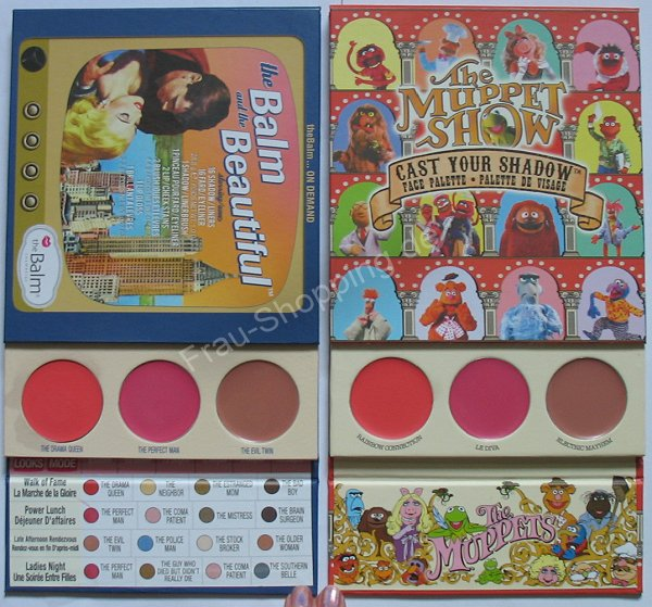 The Balm Muppets Palette vs. the Balm and the Beautiful - Rouge und Lipgloss