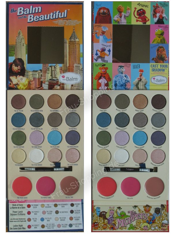 The Balm Muppets Palette vs. the Balm and the Beautiful aufgeklappt