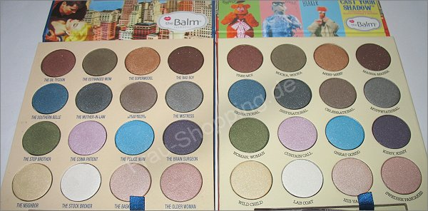 The Balm Muppets Palette vs. the Balm and the Beautiful - die Lidschatten