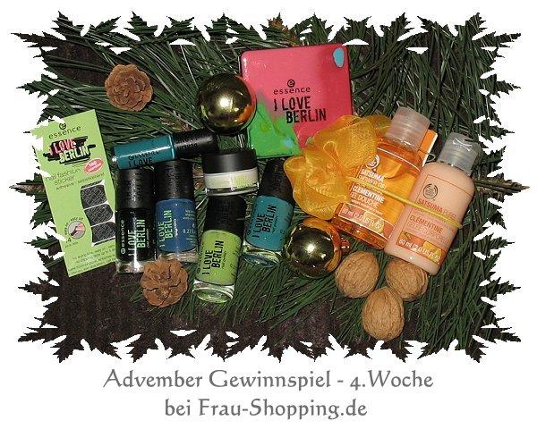 Advember Gewinnspiel – 4. Woche Set essence und The Body Shop
