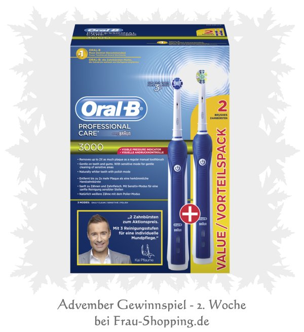 Advember Gewinnspiel – 2. Woche - Oral B Zahnbürsten-Set