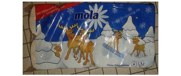 Weihnachtliches Toilettenpapier mit Elchen von Mola