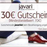 Javari: Neuer 30 Euro Gutschein