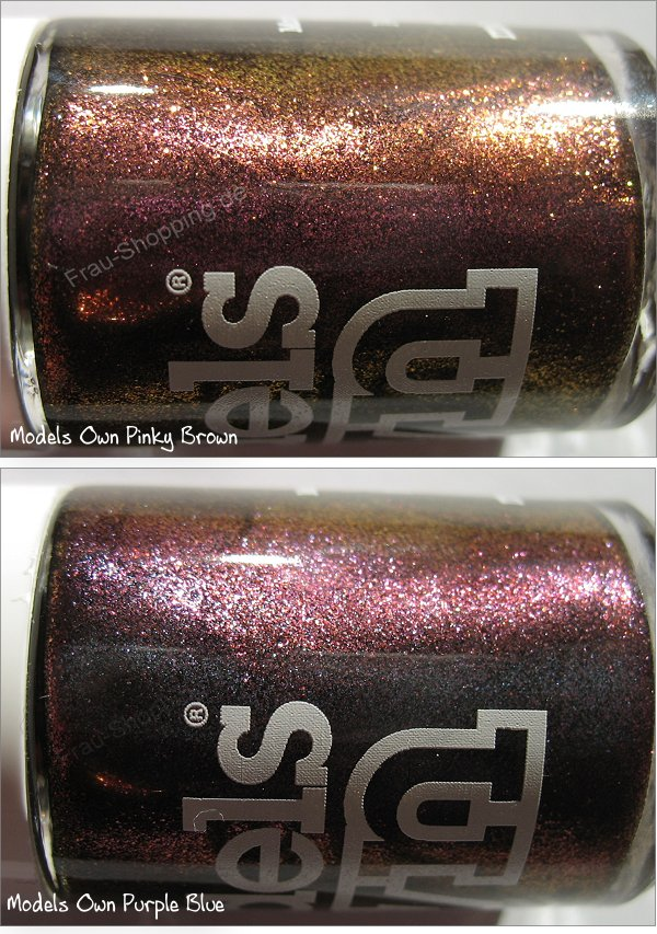 Models Own Beetlejuice Nagellacke - Pinky Brown und Purple Blue