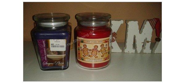 Weihnachtliche Duftkerzen von TK Maxx
