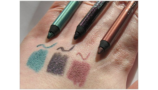 CCB Paris Metallic Eyeliner Swatches